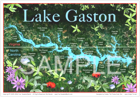 Gaston Nc Map.Lake Gaston Art Merchandise Speciality Map Gifts Throws